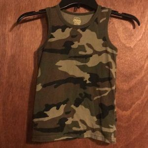 Faded Glory camouflage tank S 6/7